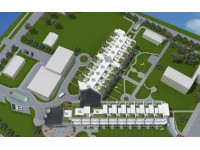 """Architecture - low-Rise residential complex """" White dune"""""""